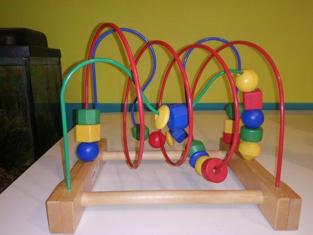 Mula Ikea, zabawka drewniana, przekładanka