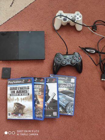 Konsola Sony PlayStation 2 + 3 gry