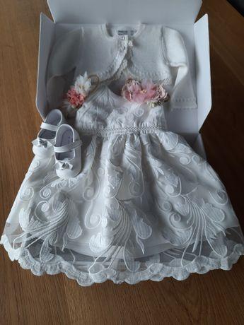 Abrakadabra sukienka 68cm, opaski,  Mayoral bolerko, buciki + Gratisy