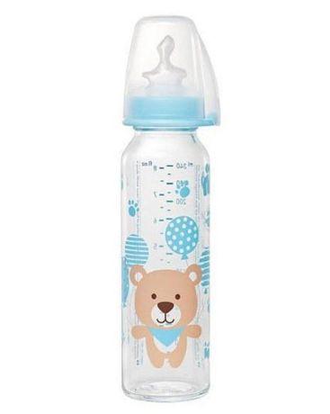 Стеклянная бутылочка, 250мл, соска силиконовая ортодонтическая, 0-6мес