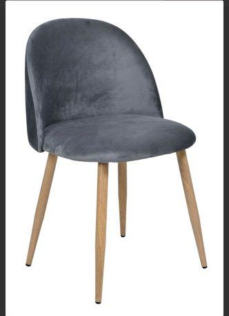 Krzesło szare tapicerowane