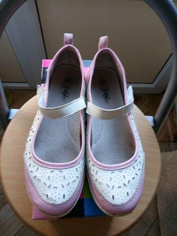 Летние кожаные туфли р.35