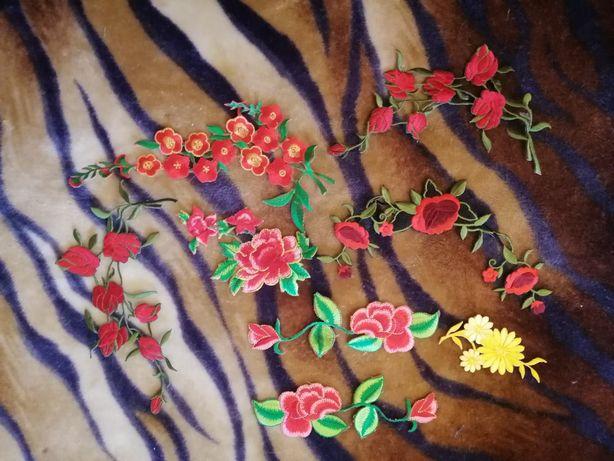 Нашивки цветы. Остатки