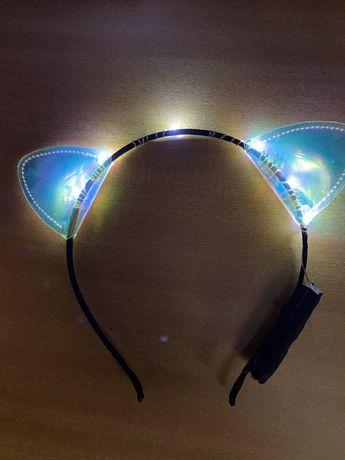 Fita de orelhas com luz / arco de flores / grinalda