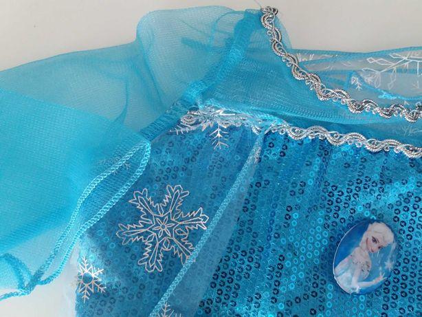 FROZEN - Fantasia Vestido Princesa ELSA - 4, 5, 6, 7 anos - NOVO