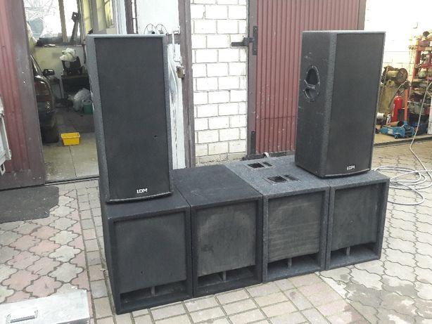 kolumny basowe subbasy 1400w B&C speakers 15ps100 4r Subwoofer 4szt