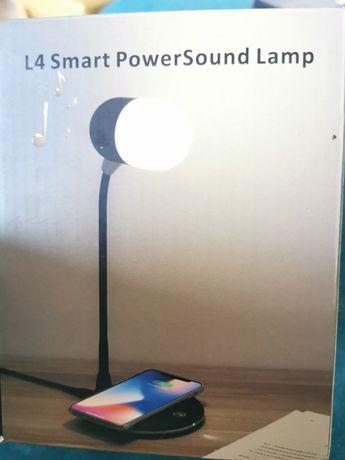3w1 lampka biurkowa + ładowarka indukcyjna + głośnik Bluetooth NOWA