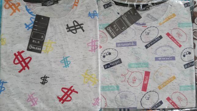 7szt za 50zl NOWA koszulka t-shirt bluzka męska długa L