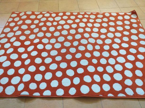 Carpete laranja e branca 1,90m×1,30m