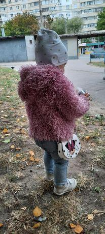 Куртка пальто меховушка войчик wojcik 12-18 мес 86см