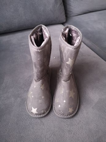 YoungStyle buty dziewczęce zimowe mukluki śniegowce r. 33
