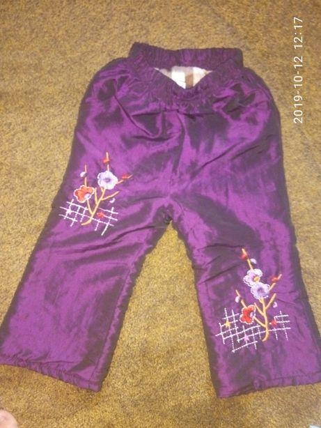 брюки для девочки зимние на 3-4 года