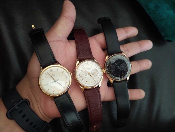 Relógio em ouro Omega, Charles Nicolet e chronograph Suisse todos 18kl