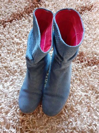 Botas rasas azul