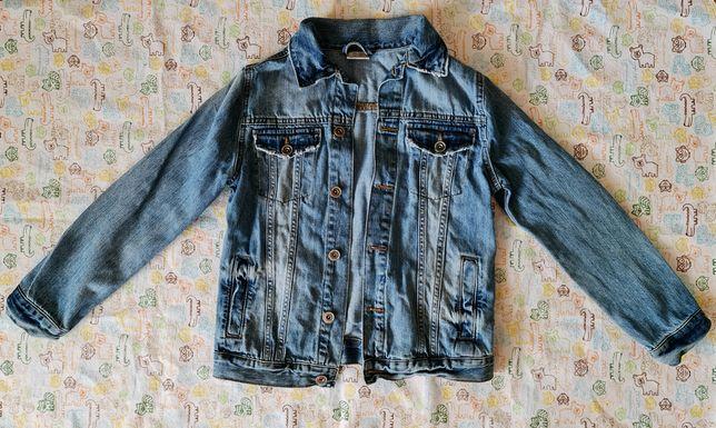 Джинсовая курточка Зара Zara мальчику, оригинал, состояние новой, 134р