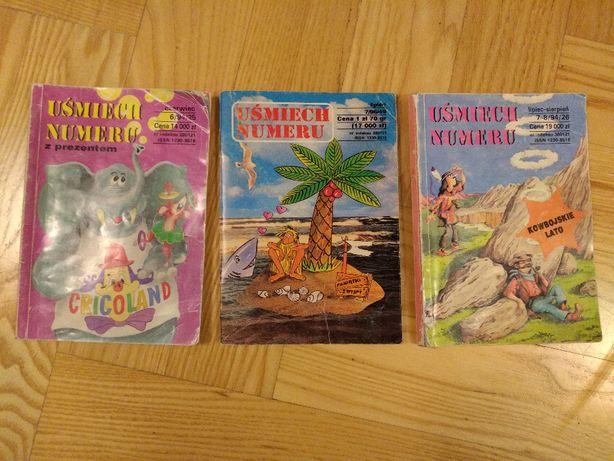 Uśmiech numeru / Zestaw 3 książeczek z dowcipami / 1994 / 1996