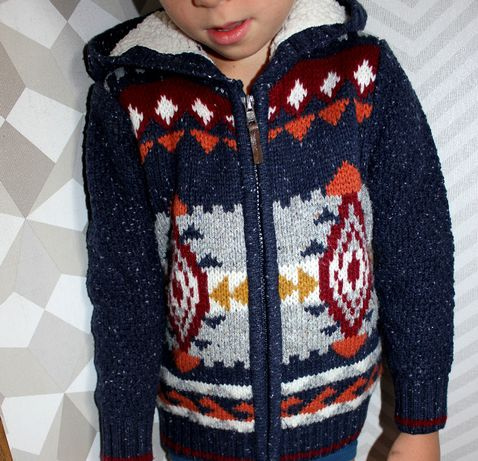 Кофта свитер толстовка на 3-4 года новогодний зимний