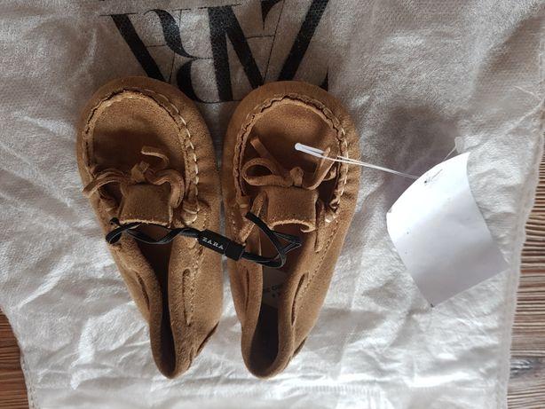 Skórzane mokasynki Zara baby 20, 13.5 cm