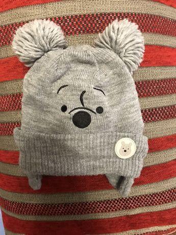 Зимняя детская шапка 2-6 месяцев