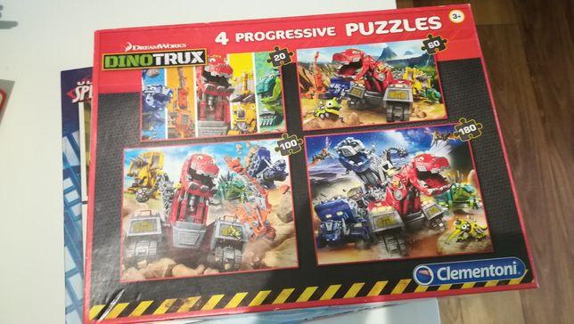 Puzzle progressivo  homem aranha e dinotrux