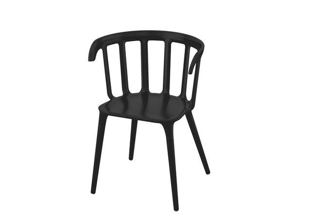 Krzesła IKEA PS 2012 2 sztuki czarne loftowe designerskie krzesło