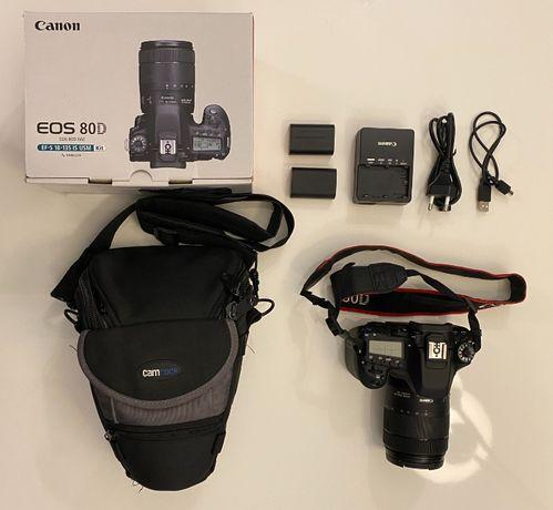 Canon EOS 80D + 18-135mm f/3.5-5,6 + akcesoria