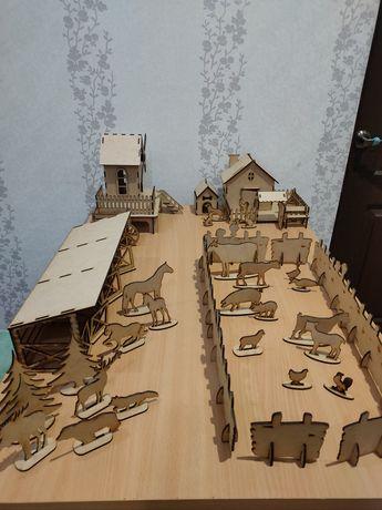 Ферма Конюшня Мельница Животные Большой набор
