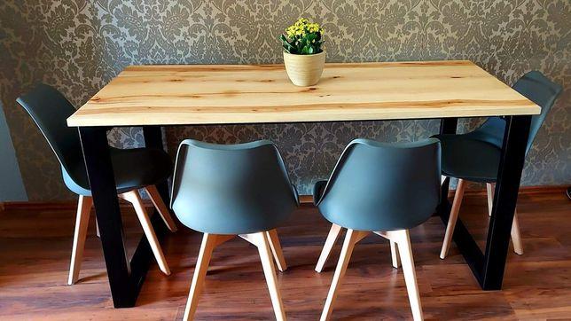 Stół loftowy drewniany blat