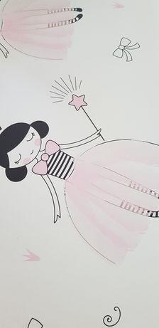 Tapeta flizelinowa księżniczki dla dziewczynki rolka 10m