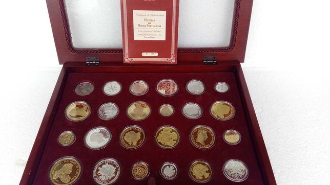 Coleção História da Moeda Portuguesa de 24 moedas em prata de 925 %o