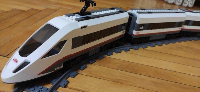 Железная дорога 60051 LEGO City Скоростной пассажирский поезд + акция