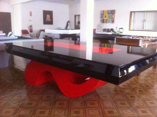 Bilhar - Mesa de Bilhar - Snooker I Preto Vermelho