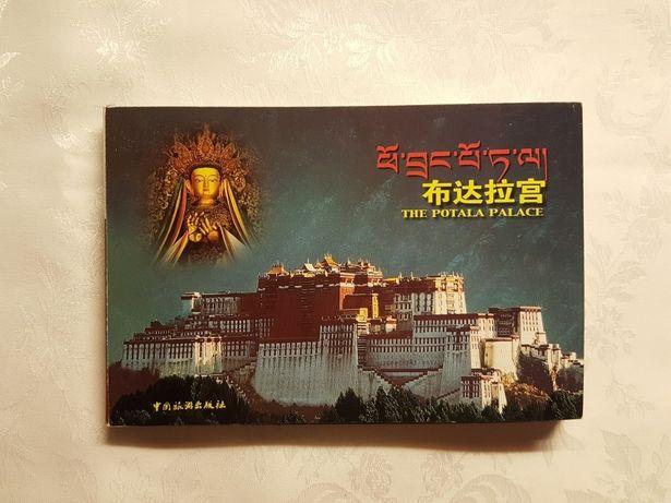 WIDOKÓWKI, pocztówki, kartki AZJA, Chiny, Tybet, 30 sztuk w książeczce