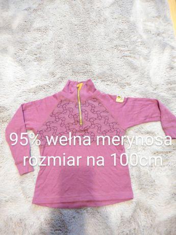 Bluza termoaktywna dla dziewczynki narciarska z wełną w składzie Janus