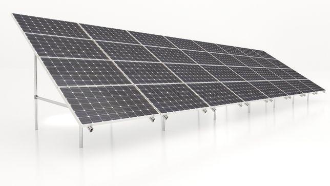 Konstrukcja gruntowa 32szt panele fotowoltaiczne PV gwarancja skręcana