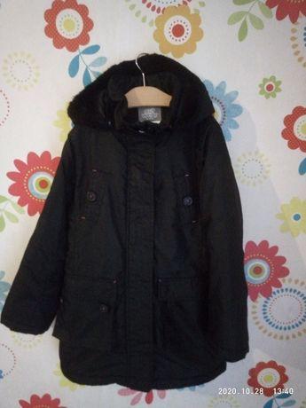 Евро зима куртка для девочки 128