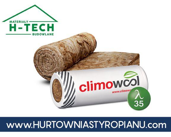Wełna do poddaszy szklana mineralna Climowool 035 150mm w rolce