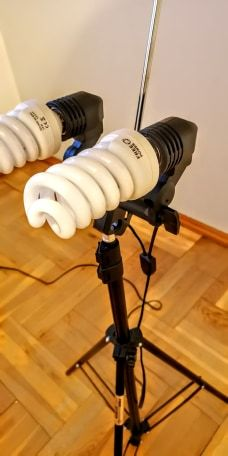 Lampa do zdjęć + parasol + żarówki x2,