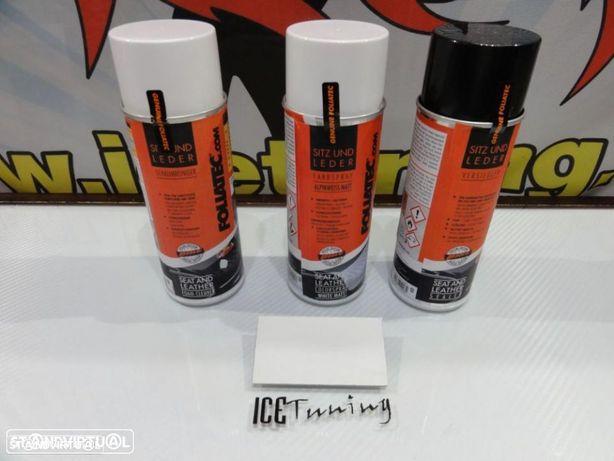Spray reparação e pintura + limpeza + selante Branco Mate bancos de mota