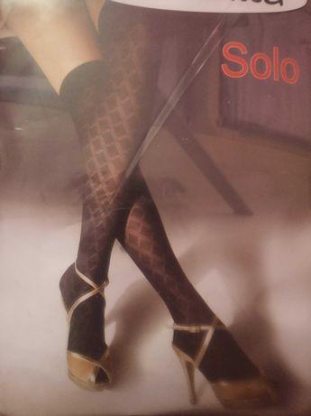 Гетры гольфы капрон Giulia 60 Дэн черный цвет с носком размер 23-25