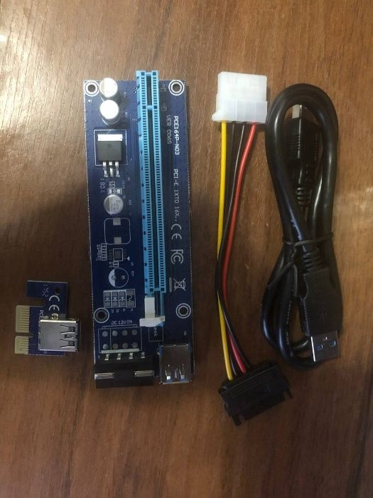 Райзера 006s PCI-E x1 to 16x, 60 см Яготин - изображение 1