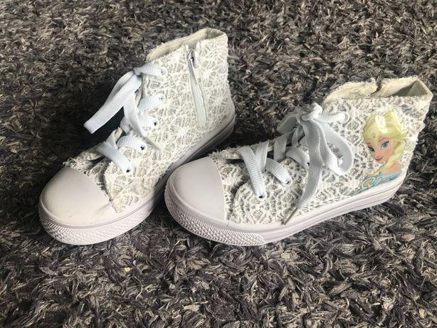 Buty dziewczęce białe Elsa / tenisówki za kostkę r. 29