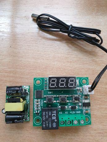 Комплект Термостат W1209 + БЖ + термодатчик