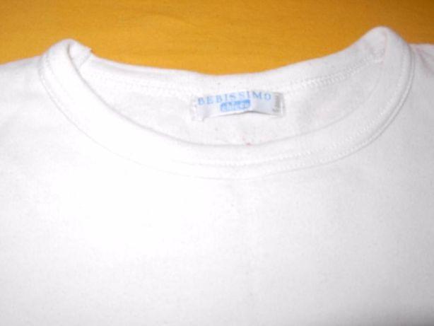 3 T'shirts brancas Chicco e Benetton 6 anos