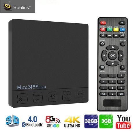 Mini M8S Pro TV Box 3GB DDR4 + 32GB eMMC - BLACK - EU PLUG 3G + 32G
