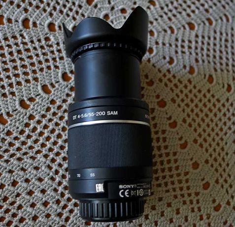 Obiektyw do lustrzanek SONY 55-200 mm.