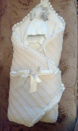 Конверт - одеяло + шапочка