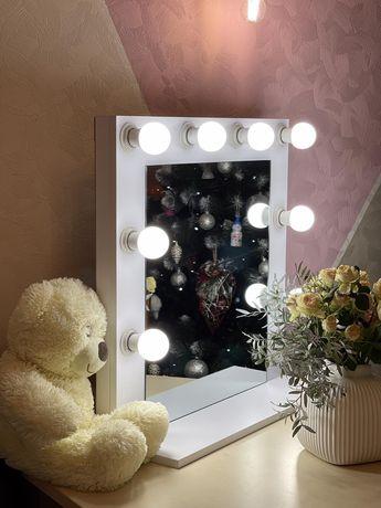 Зеркало з подсветкой дзеркало для бровиста макіяжне з підсвіткою