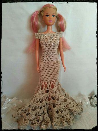 Вязаные платья для Барби. Ручная работа