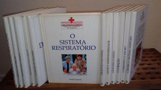 Biblioteca mèdica da familia cruz vermelha p.12 livros encadernados